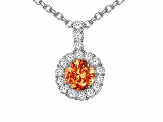 Jewelry pendants orange sapphire at jewelryfunstore genuine 18k orange sapphire and diamond pendantgenuine 18k orange sapphire and diamond pendant aloadofball Gallery