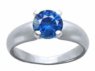 Genuine Round Sapphire Ring