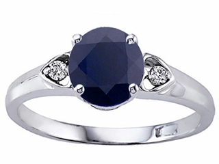 Genuine Round Black Sapphire Ring