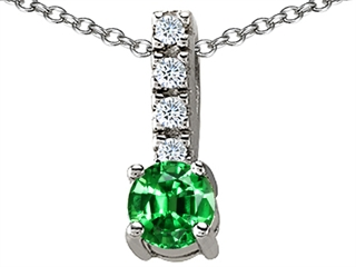 Jewelry pendants lab created emerald at jewelryfunstore 14k white gold plated 925 sterling silver lab created emerald pendant mozeypictures Image collections