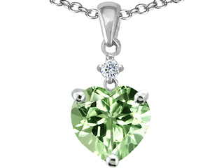 Jewelry pendants lab created green sapphire at jewelryfunstore 14k white gold plated 925 sterling silver heart shaped created green sapphire pendant aloadofball Image collections