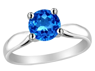 Star K Round 7mm Simulated Blue Topaz Rings