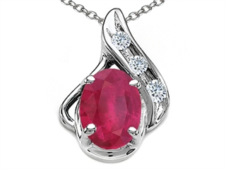 Gold Genuine Oval Ruby And Diamond