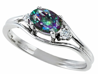 Tommaso Design Mystic Rainbow Topaz Ring