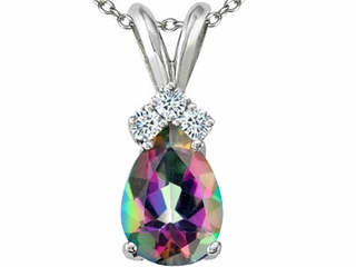 Tommaso Design Mystic Rainbow Topaz Pendant Necklace