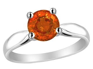 Original Star K 7mm Round Simulated Mexican Fire Opal Ring