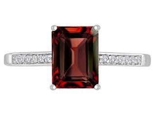 Original Star K Genuine Garnet Solitaire Engagement Ring
