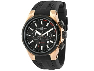 Officina Del Tempo Sail II 45mm Chronograph Rose PVD Gel Band (OT1029/161N) Made in Italy