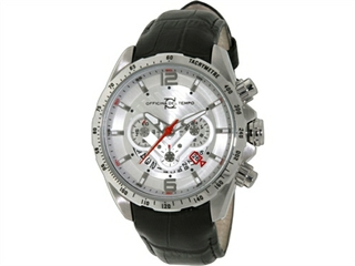 Officina Del Tempo COMPETITION 43mm Chronograph Leather Band (OT1046/1120N) Made in Italy