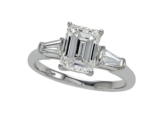 Zoe R White Gold Engagement Ring with Signity by Swarovski Cubic Zirconia (CZ)