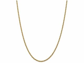 10 Inch 14k 2.5mm Handmade Regular Rope Chain Ankle Bracelet