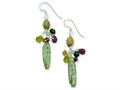 Sterling Silver Citrine Amethyst Peridot Kyanite Jasper Earrings