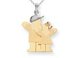 The Kids® Big Boy and Little Girl Engraveable Charm / Pendant Style #XK638
