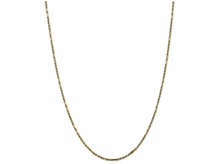 9 Inch 14k 2.0mm Milano Rope Chain Ankle Bracelet (Smaller Ankles)