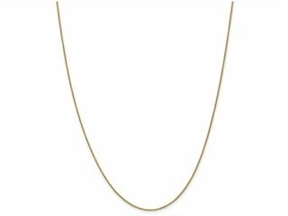 The alluring 10 Inch 14k 0.80mm Spiga Pendant Chain Ankle Bracelet, crafted in 14 kt Yellow Gold. This style measures 0.80 mm wide, 10.00 Inches long.