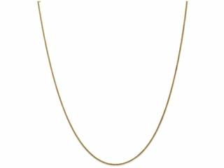 10 Inch 14k 1.25mm Spiga Chain Ankle Bracelet