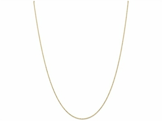 9 Inch 14k 1.2mm bright-cut Baby Ball Chain Ankle Bracelet (Smaller Ankles)