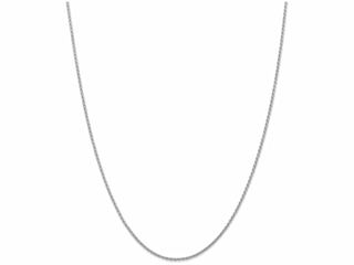 10 Inch 14k White Gold 1.5mm Parisian Wheat Chain Ankle Bracelet