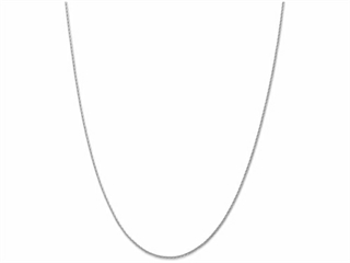 10 Inch 14k White Gold 1.5mm Round bright-cut Wheat Chain Ankle Bracelet