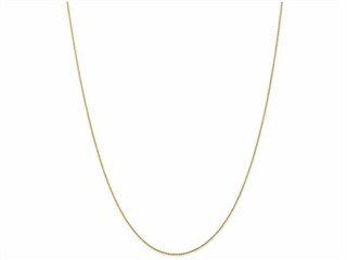 9 Inch 14k .8mm Round bright-cut Wheat Chain Ankle Bracelet (Smaller Ankles)