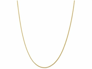 10 Inch 14k 1.5mm bright-cut Wheat Chain Ankle Bracelet