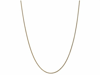 10 Inch 14k 1.2mm bright-cut Spiga Chain Ankle Bracelet