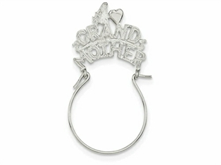 Sterling Silver #1 Grandmother Charm Holder