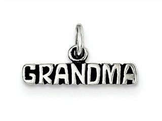 Sterling Silver Antiqued Grandma Charm