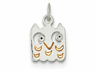 Sterling Silver Enameled Owl Charm