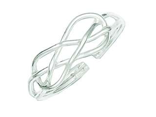 Sterling Silver Infinity Solid Toe Ring