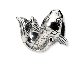 Reflections Sterling Silver Fish Bead / Charm