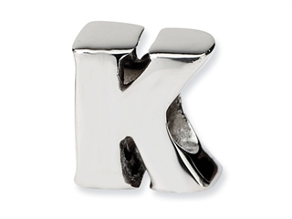 Reflections Sterling Silver Letter K Bead / Charm