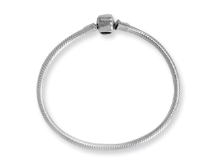 Reflections Sterling Silver SimStars Clasp Bead Bracelet 9.00 inches