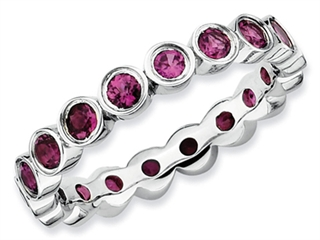 Stackable Expressions Sterling Silver Rhodolite Garnet Stackable Ring