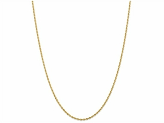 10 Inch 14k 2.00mm bright-cut Quadruple Rope Chain Ankle Bracelet