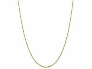 9 Inch 14k 2.00mm bright-cut Quadruple Rope Chain Ankle Bracelet (Smaller Ankles)