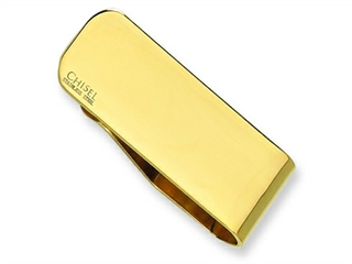 Chisel Stainless Steel Gold Plated Money Clip