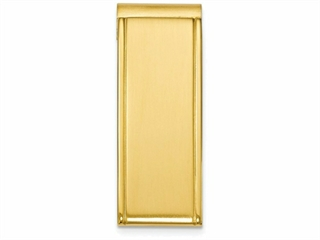 Chisel Stainless Steel Yellow Plated Money Clip