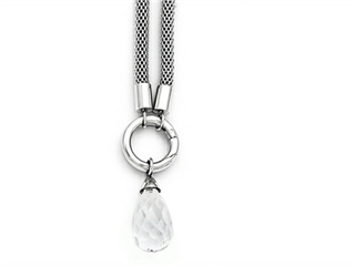 Chisel Stainless Steel Polished Interchangeable Glass Charm Necklace