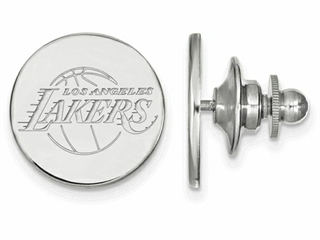 LogoArt Sterling Silver Los Angeles Lakers Lapel Pin