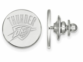 LogoArt Sterling Silver Oklahoma City Thunder Lapel Pin
