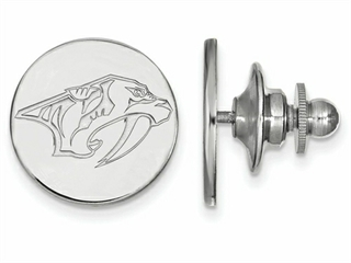 LogoArt Sterling Silver Nashville Predators Lapel Pin