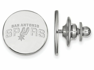 LogoArt Sterling Silver San Antonio Spurs Lapel Pin