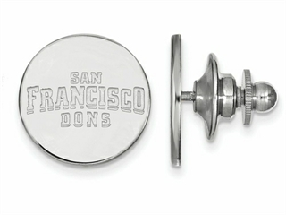 LogoArt Sterling Silver University Of San Francisco Lapel Pin