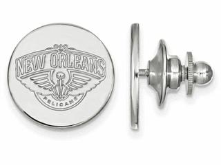 LogoArt Sterling Silver New Orleans Pelicans Lapel Pin