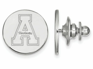 LogoArt Sterling Silver Appalachian State University Lapel Pin
