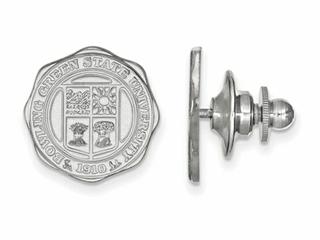 LogoArt Sterling Silver Bowling Green State University Crest Lapel Pin