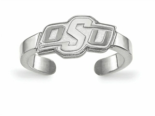 LogoArt Sterling Silver Oklahoma State University Toe Ring