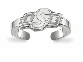 LogoArt Sterling Silver Oklahoma State University Toe Ring