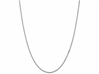 24 Inch 14k White Gold 1.35mm Box Chain Necklace